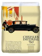1927 - Chrysler Imperial Model 80 Automobile Advertisement - Color Duvet Cover