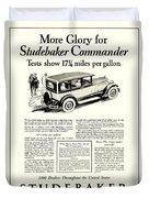 1927 - Studebaker Commander Automobile Advertisement Duvet Cover