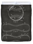 1928 Baseball Patent Artwork - Gray Duvet Cover