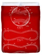 1928 Baseball Patent Artwork Red Duvet Cover