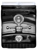 1928 Dodge Brothers Hood Ornament - Moto Meter Duvet Cover by Jill Reger