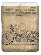 1928 Harley Davidson Motorcyle Patent Illustration Duvet Cover