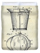 1928 Milk Pail Patent Drawing Duvet Cover