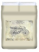 1928 Motorcycle Patent Drawing Duvet Cover