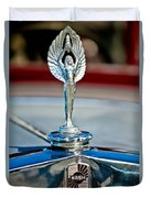 1928 Nash Coupe Hood Ornament 2 Duvet Cover