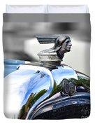 1928 Pontiac Hood Ornament And Badge Duvet Cover