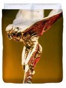 1928 Rolls-royce Phantom I Sedenca De Ville Hood Ornament Duvet Cover