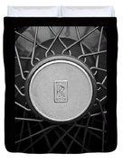 1928 Rolls-royce Spoke Wheel Duvet Cover