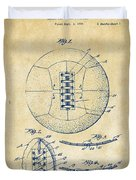 1928 Soccer Ball Lacing Patent Artwork - Vintage Duvet Cover