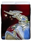 1928 Studebaker Hood Ornament 2 Duvet Cover by Jill Reger