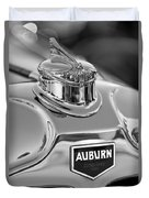 1929 Auburn 8-90 Speedster Hood Ornament 2 Duvet Cover by Jill Reger
