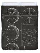 1929 Basketball Patent Artwork - Gray Duvet Cover