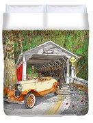 1929 Chrysler 65 Covered Bridge Duvet Cover