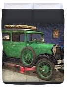 1929 Ford Model A By Liane Wright Duvet Cover