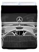 1929 Mercedes-benz S Erdmann - Rossi Cabiolet Hood Ornament Duvet Cover