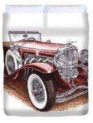 1930 Dusenberg Model J Duvet Cover