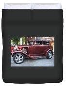 1930 Ford Two Door Sedan Side View Duvet Cover