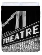 1930s 1940s Theater Marquee Theatre Duvet Cover