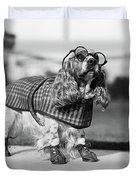 1930s Cocker Spaniel Wearing Glasses Duvet Cover
