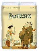 1931 - Fantasio French Magazine Cover - September - Color Duvet Cover