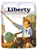 1931 - Liberty Magazine Cover - March 7 - Leslie Thrasher - Color Duvet Cover