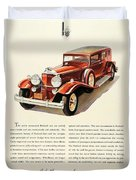 1931 - Packard - Advertisement - Color Duvet Cover