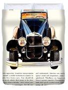 1931 - Packard Automobile Advertisement - Color Duvet Cover