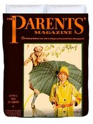 1931 - Parents Magazine - April - Color Duvet Cover