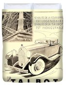 1931 - Talbot French Automobile Advertisement Duvet Cover