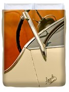 1931 Alfa Romeo 6c 1750 Gran Sport Aprile Spider Corsa Steering Wheel Duvet Cover
