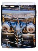 1931 Bentley 4.5 Liter Supercharged Le Mans Engine Emblem Duvet Cover