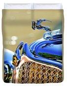 1931 Chrysler Cg Imperial Dual Cowl Phaeton Hood Ornament - Grille Duvet Cover