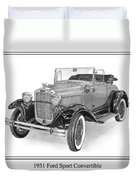 1931 Ford Convertible Duvet Cover