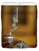 1931 Lasalle Hood Ornament Duvet Cover by Jill Reger