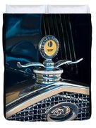 1931 Model A Ford Deluxe Roadster Hood Ornament Duvet Cover