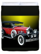 1931 Willys Knight Plaid Side Duvet Cover