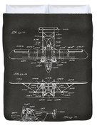 1932 Amphibian Aircraft Patent Gray Duvet Cover