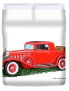 1932 Cadillac Rumbleseat Coupe Duvet Cover