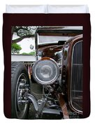 1932 Ford Roadster Head Lamp View Duvet Cover