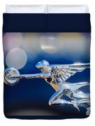 1932 Packard 12 Convertible Victoria Hood Ornament -0251c Duvet Cover