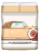 1932 Packard All Weather Roadster By Dietrich Concept Duvet Cover