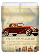 1933 - Buick Coupe Advertisement - Color Duvet Cover