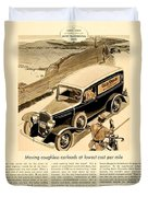 1933 - Chevrolet Commercial Automobile Advertisement - Old Gold Cigarettes - Color Duvet Cover