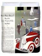 1933 - Hupmobile Sedan Automobile Advertisement - Color Duvet Cover