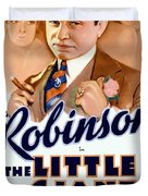 1933 - The Little Giant - Warner Brothers Movie Poster - Edward G Robinson - Color Duvet Cover