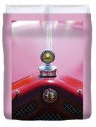 1933 Alfa Romeo P-2 Monza Hood Ornament Duvet Cover