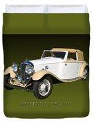 1933 Bentley 3  5  Liter Drop Head Coupe Duvet Cover