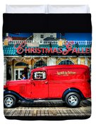1933 Chevy Delivery Truck Red Duvet Cover