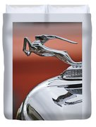 1933 Chrysler Cl Imperial Hood Ornament Duvet Cover