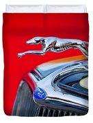 1933 Ford Hood Ornament Duvet Cover